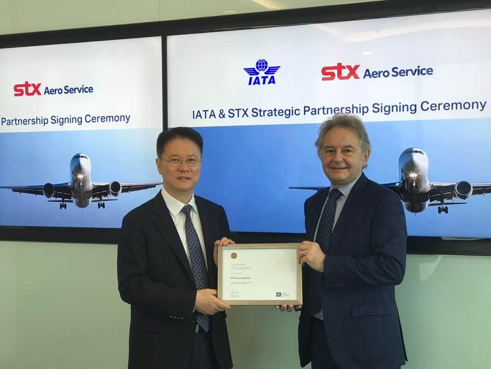 국내 최초 STX에어로서비스, IATA의 전략적 파트너십을 발표