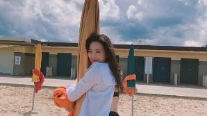 """선미, 수영복에 드러난 '완벽 골반' S라인 섹시美 """"빠져든다"""""""
