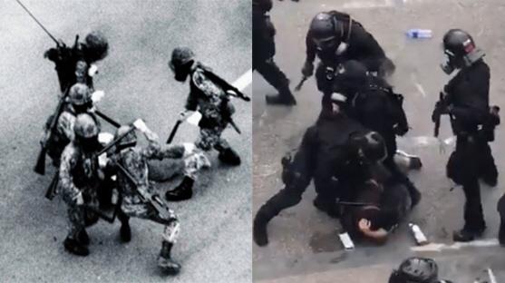 1980년 광주와 2019년 홍콩 사진 '닮은 꼴'