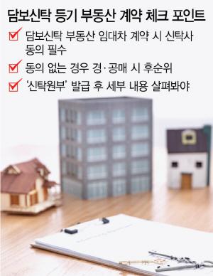 [머니+ 부동산 Q&A] 계약하려는 집에 신탁등기가 돼 있다면