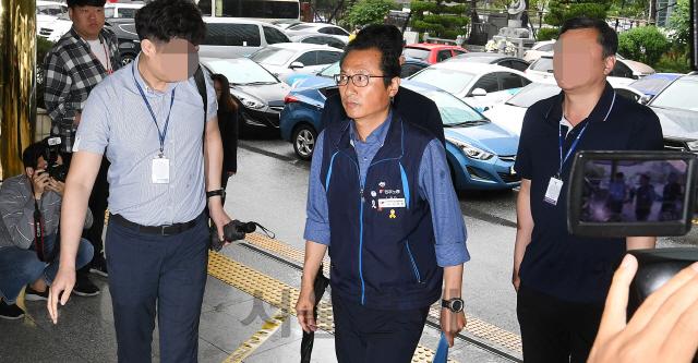 민주노총, 김명환 위원장 구속영장 신청에 '정부정책 반대 노동자 손발 묶어' 규탄