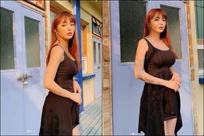 홍진영 '환상적인 볼륨몸매 공개' 아침부터 섹시 매력 폭발