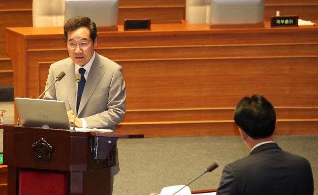 李총리 '아베, 北제재 언급, 안보질서 흔들 위험한 발언'
