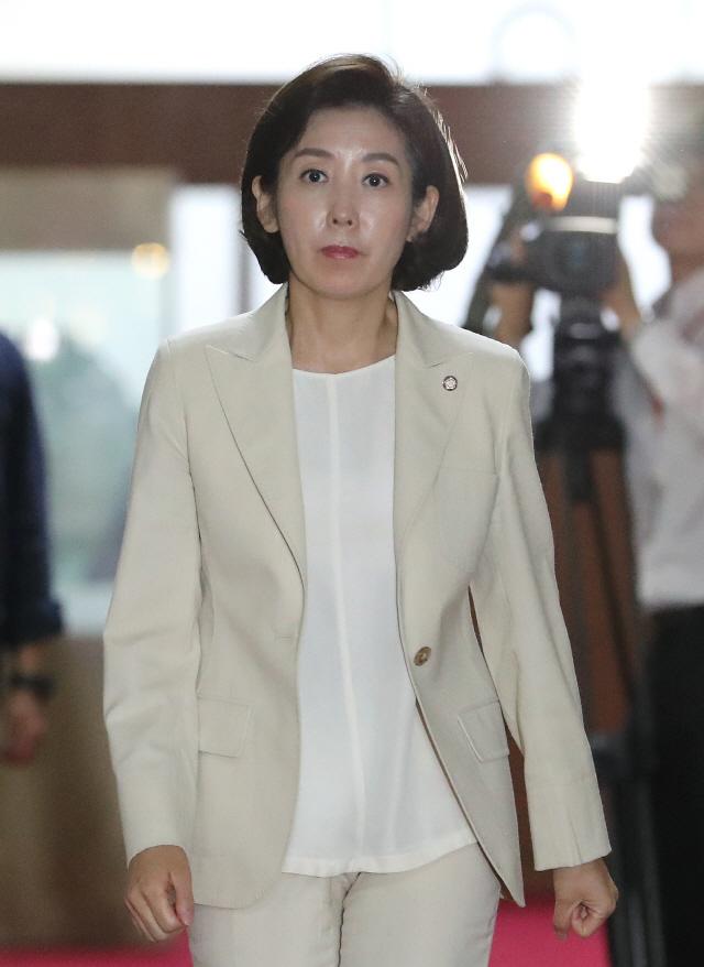 """나경원 """"국가 위기에도 '친일 프레임'...한심한 靑·與"""""""
