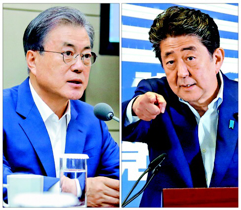 아베에 '최소한의 선' 강조한 靑…文 '부품소재서도 유니콘 나와야'