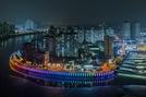 시흥시, 월곶해안로 야간경관 조명 설치…'빛으로 물든 월곶 밤바다'