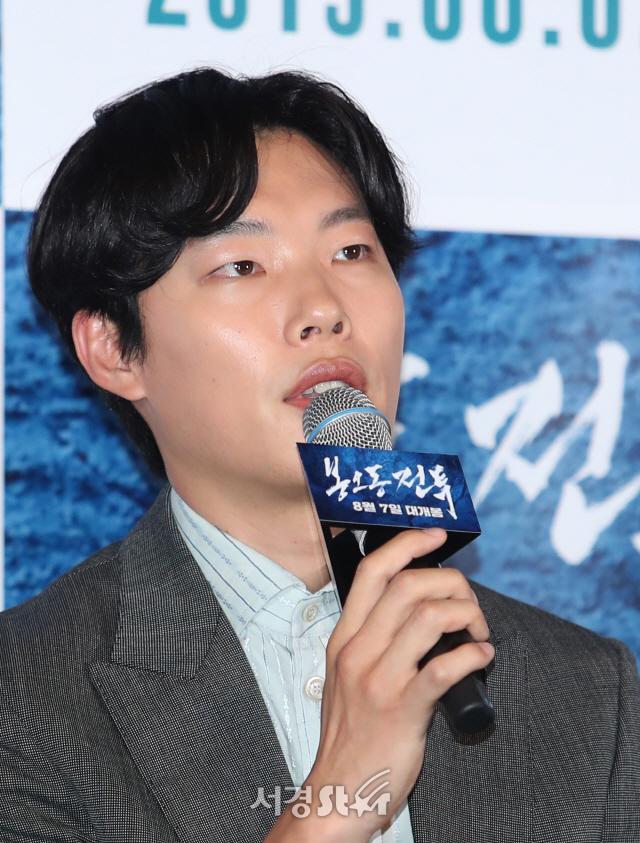 류준열, 진지한 답변 (봉오동 전투 언론시사회)