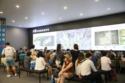'신천센트럴자이' 견본주택, 주말 동안 1만 4천여명 방문해 인기 실감