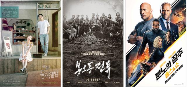'유열의 음악앨범'X'봉오동 전투'X'분노의 질주: 홉스&쇼' 풍성한 8월 극장가