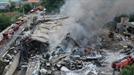 안성 박스제조공장 폭발 화재…소방관 1명 사망·10명 부상