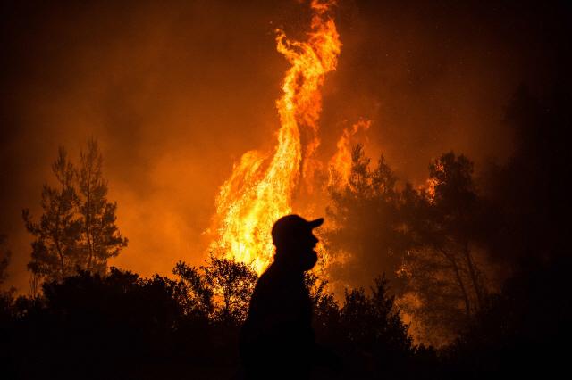 그리스 에비아섬 대형산불...주민 수백명 긴급 대피
