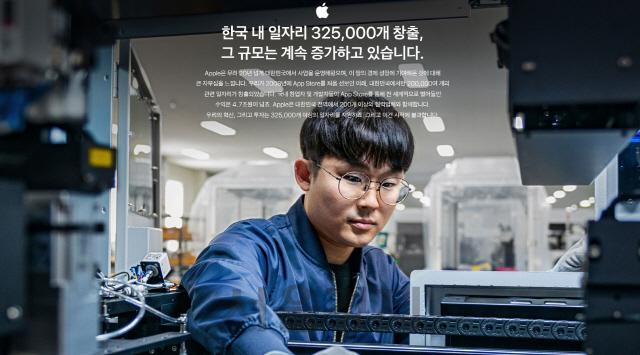 애플, 韓 고용성적표 첫 공개...직원 500명·일자리 32만개
