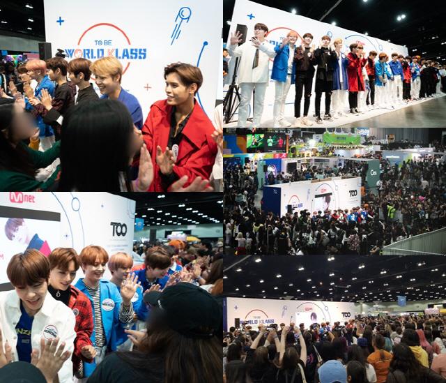 '월드 클래스' 20인 연습생, 'KCON 2019 LA' 무대서 '최초 공개'