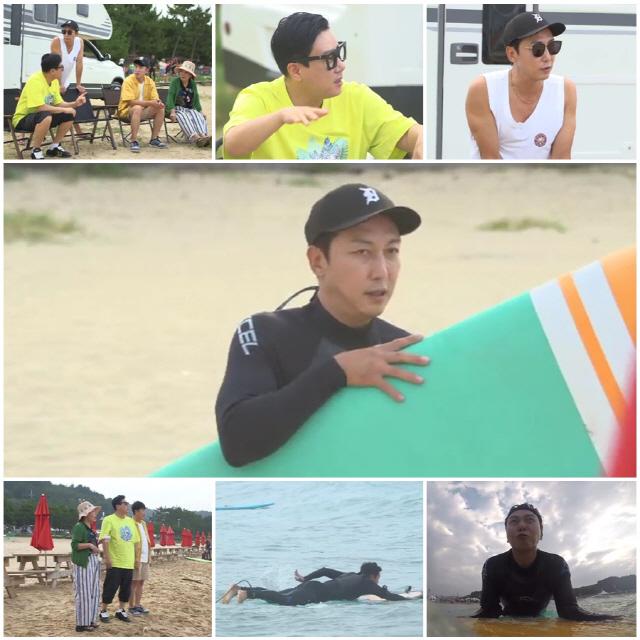 '최고의 한방' 탁재훈-이상민, 25년 지기의 자존심 건 끝장 서핑 내기
