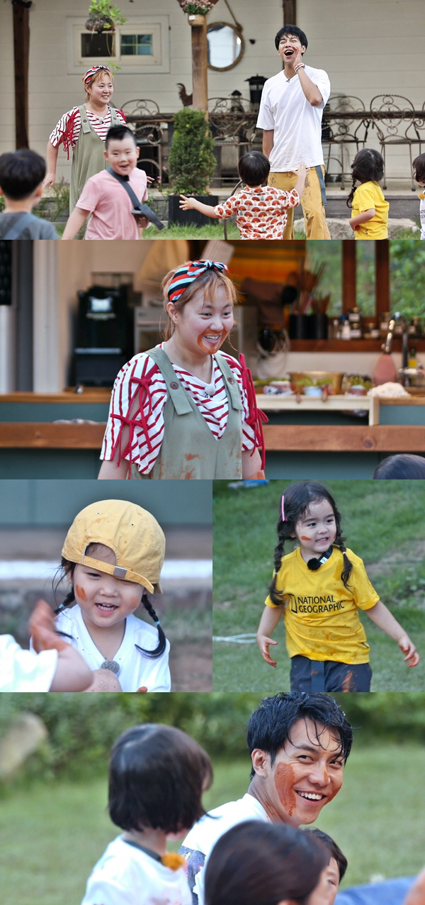 '리틀 포레스트' 박나래, 아이 맞춤 진흙놀이로 자연교육 대가 등극