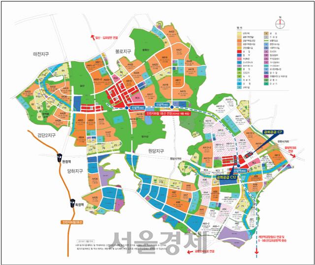 LH, 인천 검단신도시 상업용지 11필지 공급…3만가구 배후수요 갖춰