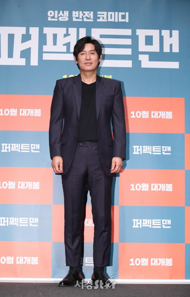 영화 홍보하는 설경구 (퍼펙트맨 제작보고회)