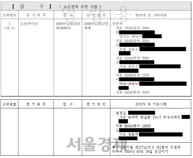 """[단독] 정점식 """"조국 20대에 산 강릉땅, 스키장 소문에 투기 의혹"""""""
