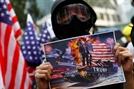 """[사진] 홍콩시위대, 美에 """"자유 이뤄달라"""""""
