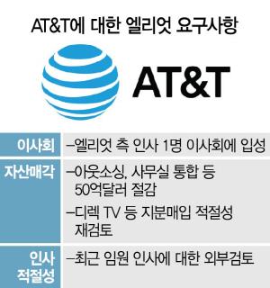 AT&T 흔드는 엘리엇…전방위 경영간섭 포문