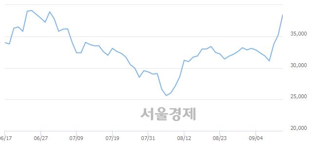 유한일현대시멘트, 전일 대비 13.19% 상승.. 일일회전율은 0.61% 기록