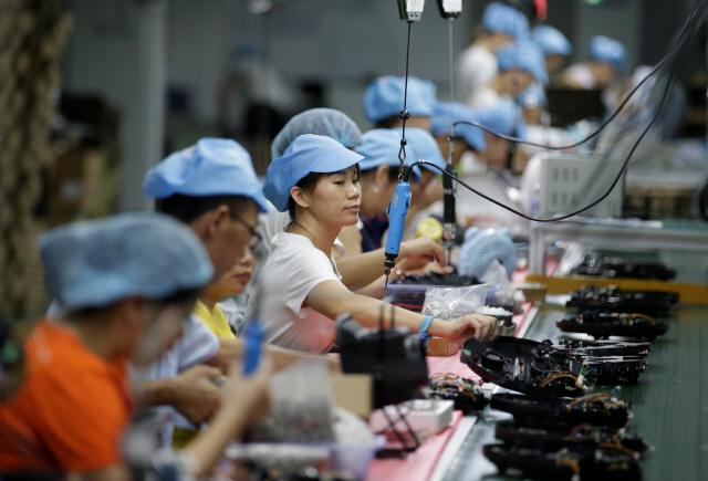 中 8월 공업생산 4.4% 증가…17년來 최저