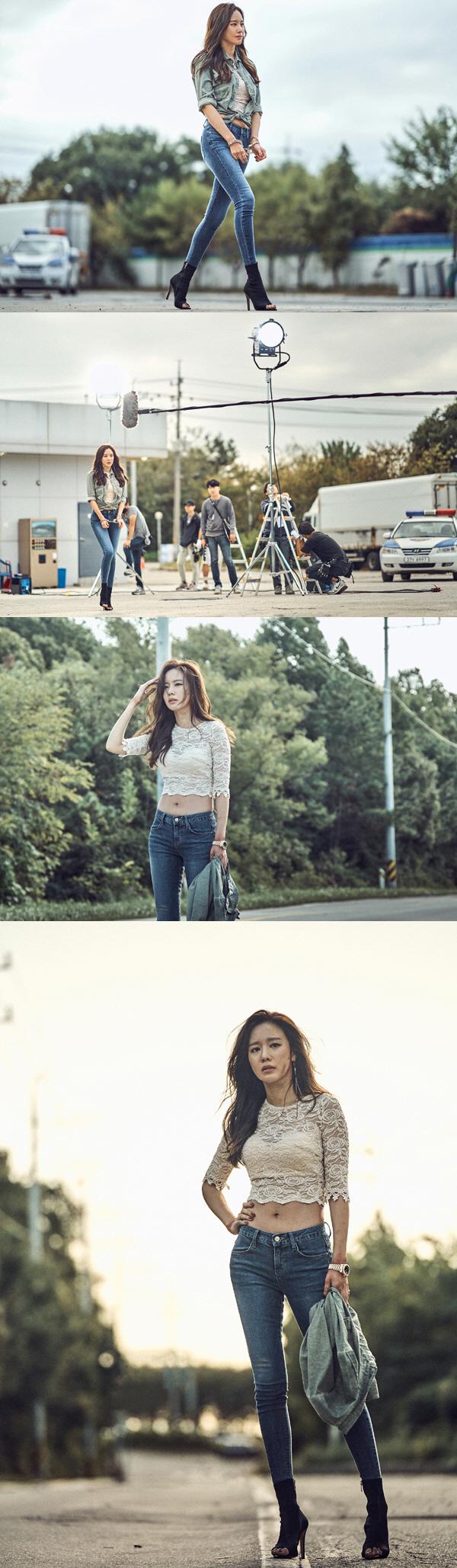 '나쁜 녀석들' 김아중, 첫 등장부터 달랐다 '압도적 아웃 핏'