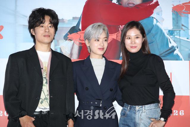 문소리-이주영-구교환, 주역들 (메기 언론시사회)