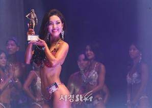 김지원, 미소 활짝 (2019 맥스큐 머슬마니아)