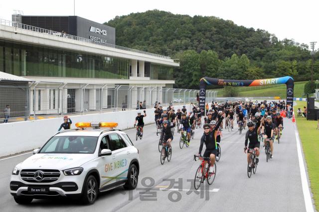 벤츠코리아, 두번째 '기부 자전거 대회' 개최