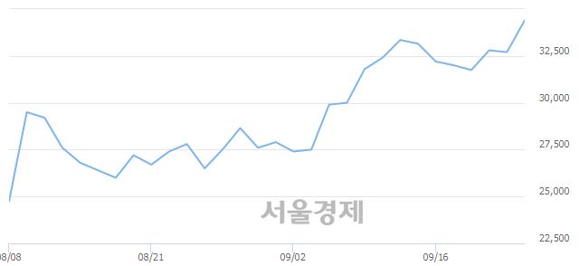코레이, 장중 신고가 돌파.. 34,900→35,000(▲100)