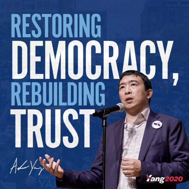 암호화폐 커뮤니티가 주목하는 미국 대선후보 '앤드류 양'