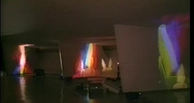 [인간 백남준을 만나다]비디오 이후의 예술...레이저로 쏘아올린 '천상의 세계'