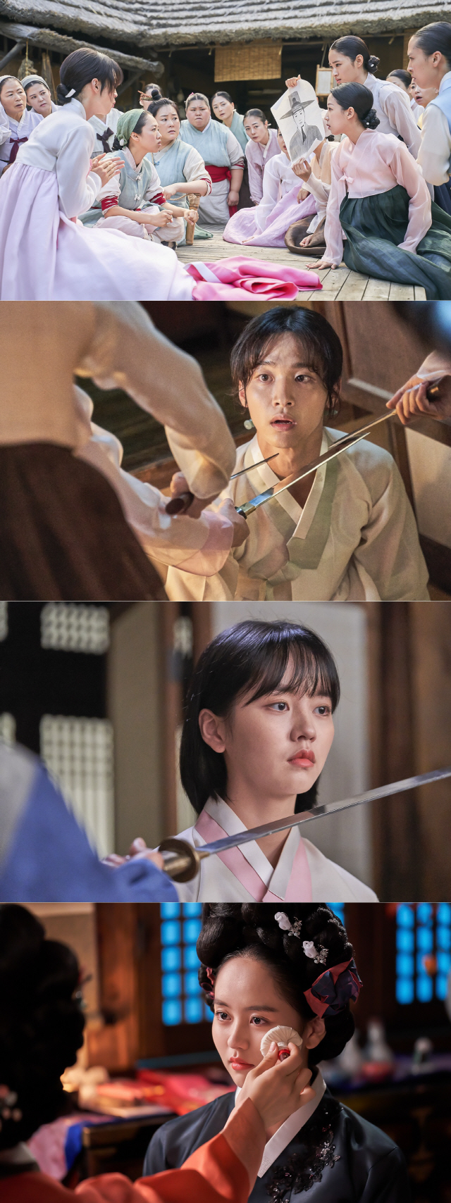 '조선로코-녹두전' 장동윤X김소현, 칼날 앞 아찔한 위기 포착