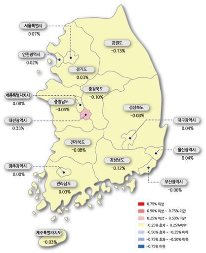 전국 아파트값 3주·서울은 15주 연속 올라...상승폭은 소폭 감소