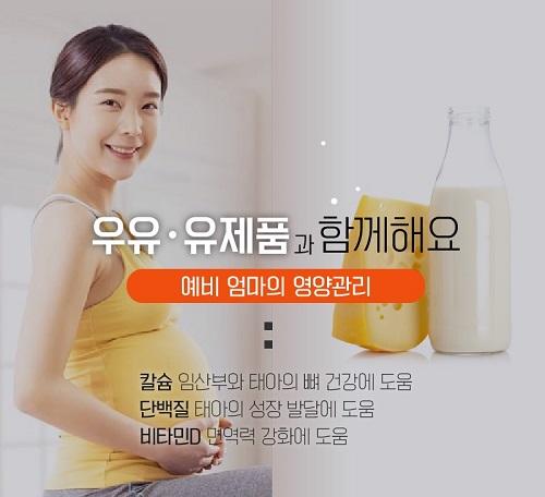 우유·유제품과 함께 엄마와 태아의 건강 챙기세요