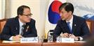 대화하는 박주민 검찰개혁특위 위원장-조국 법무부 장관