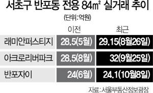 서울 반포 30평형대 '30억 시대' 눈앞