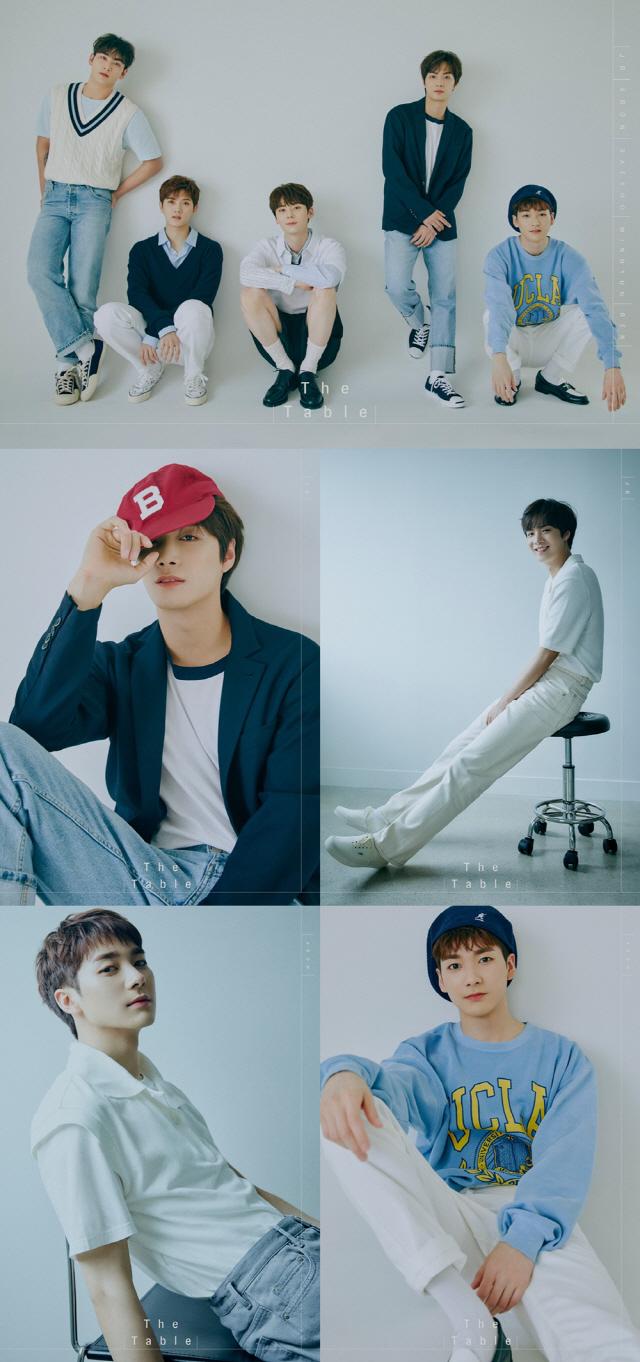 뉴이스트, 새 앨범 오피셜 포토 'Forenoon Ver.' 공개..싱그러운 매력 발산