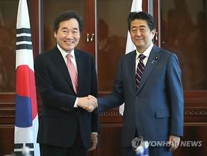 """李총리 방일 앞두고…아베 """"한일 협력 중요…대화 계속해야"""""""