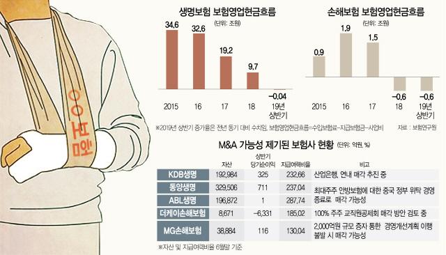 저금리→수익악화→재원부족 악순환…중소보험사 '매물폭탄'