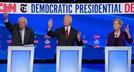 [사진] 민주 대선후보 4차 토론…'1위' 워런에 공격 집중