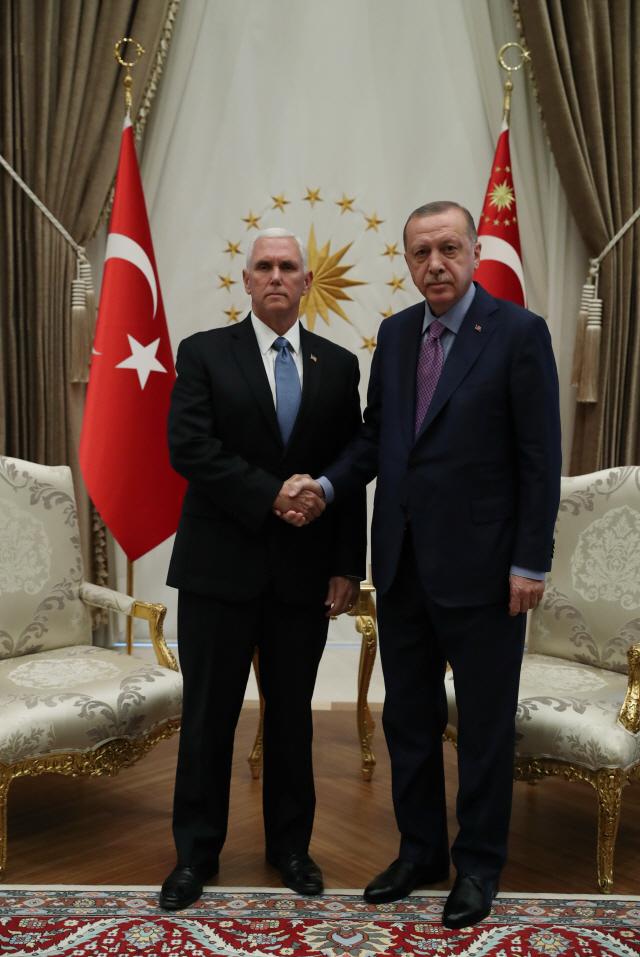 """펜스 美 부통령, """"터키, 北 시리아서 5일간 휴전 합의"""""""