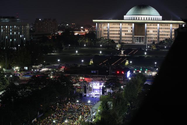여의도 집회 늦은 시각까지 진행중...'검찰개혁, 공수처 설치'