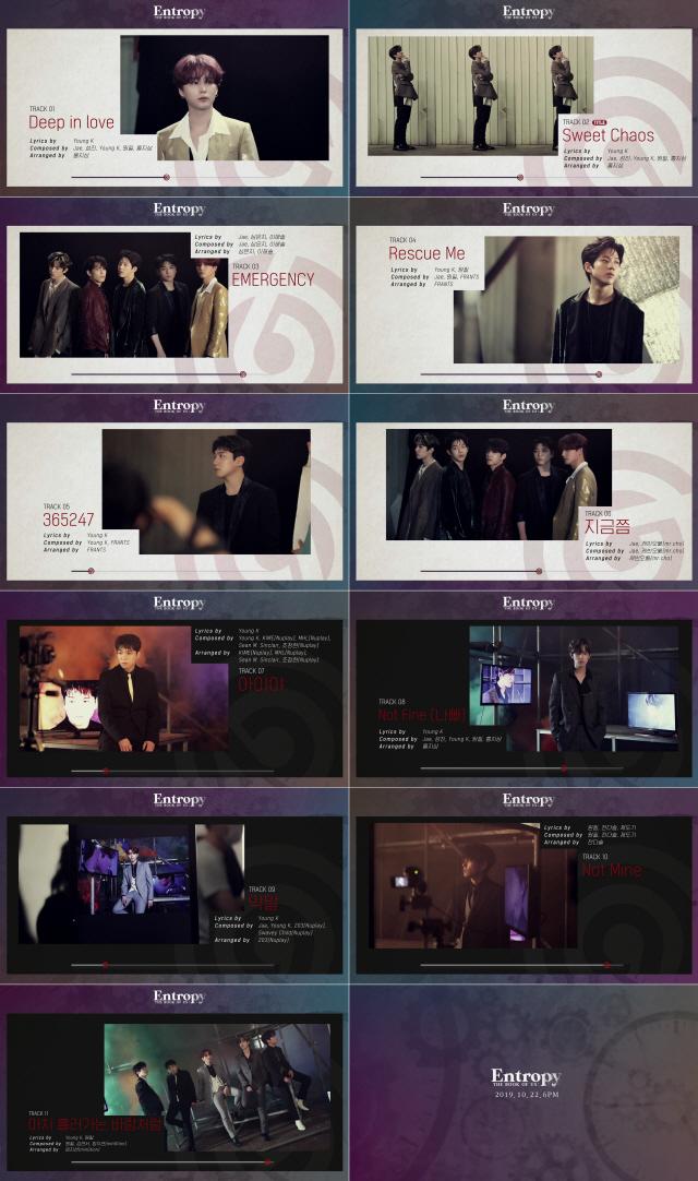 '컴백 D-DAY' DAY6, 샘플러 영상 공개..정규 3집 전곡 작사-작곡 참여