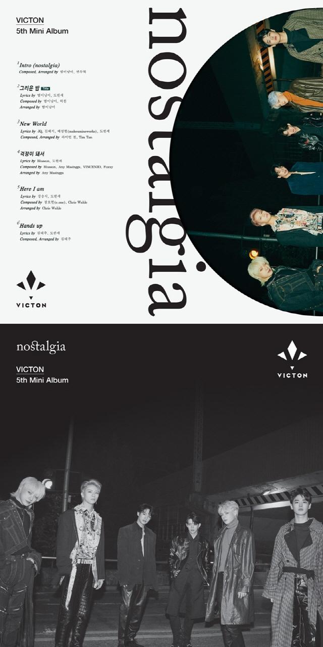 빅톤, 11월 컴백...미니 5집 'nostalgia' 트랙리스트 공개...타이틀곡은 '그리운 밤'
