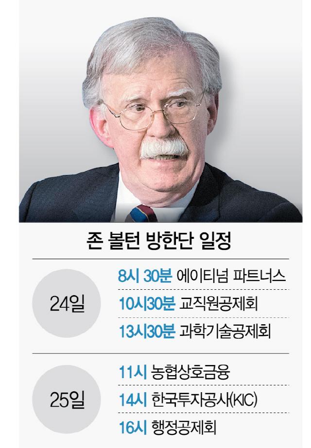 [시그널] '매파' 볼턴의 변신..이번엔 투자유치 訪韓