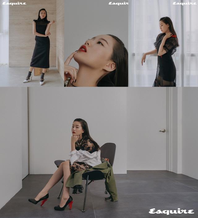 배우 박유나, 고혹적 화보 속 '팜므파탈' 변신