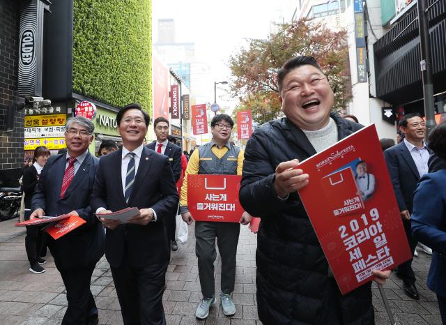 성윤모 장관 '코세페 거리홍보' 나서