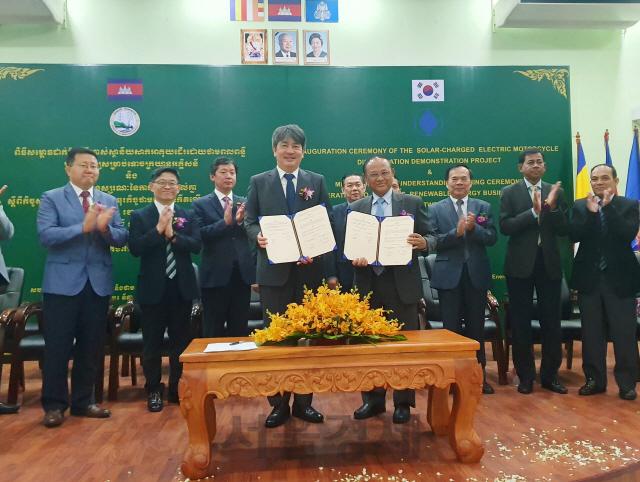 에너지공단, 캄보디아에 한국형 전기바이크 시스템 시범보급